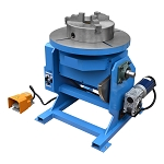 Rotary Welding Positioner Turntable 3 Jaw 0-5R/Min Table Tilt 0-45-90