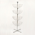 63'' High 4 Basket Display Clothes Rack Tier Spinner Rack Dump Bin Retail Fixture Merchandising