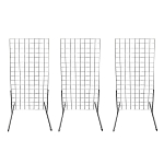3 Chrome  Gridwall Panel 4 Ft Tall Wire Grid  Shelving Board T-Leg Retail Display Fixture