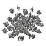 100 Chrome Wire Grid Connector Clamp Joiner Gridwall Panel Wire Cube Storage Clipping Snap On