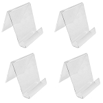 4 PC Crystal Clear Acrylic Literature Holder For 4''W Book Clutch Bag Easel