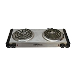 Electric Double Burner Stove 120V Portable Outdoor Indoor Cooking