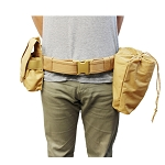 Molle Tactical Dragonspine Utility Belt System Dump Pouch Mag Holder Pouches - TAN