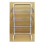 4 Frontal Basket Rack Hanger Storage Store Display Garment Rack Storing Clothing