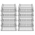 Gridwall Flat Display Shelf 24'' x 12'' Gloss Black 10 pcs