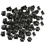 100 Gloss Black Wire Grid Connector Clamp Joiner Gridwall Panel Wire Cube Storage Clipping Snap On