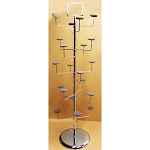 Chrome 10 Layers 20 Hat Cap Tree Rack hangers Retail Display Fixture Floor Stand