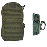 Molle HYDRATION BACK-PACK Pack w/ 2.5L Bladder - OD Green