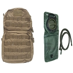 Molle HYDRATION BACK-PACK Pack w/ 2.5L Bladder-TAN