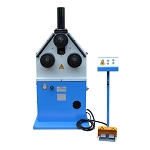 3HP Ring Band Roller Round Angle Bender Hydraulic Bending Machine Pipe Square Tube Round Flat Steel 9 RPM 2