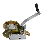 1200 Lbs Galvanized Steel 26ft Cable Drop Forged Gear Hand Winch Hand Crank ATV Trailer Boat