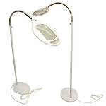 Reading Magnifying Magnifier Lamp Floor Light Flexible Gooseneck White 3 Diopter