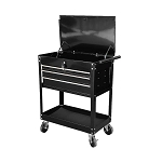Mobile Deluxe Mechanics Service Cart Truck Tool Rack Tool Storage 4 Drawers