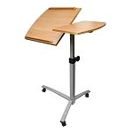 Adjustable Height Laptop Standing Desk Cart With Wheels