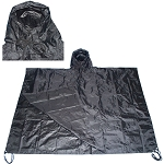Military USMC Style All Weather Poncho Rain Coat - Black