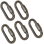 5 PC 3/16'' 316SS Marine Master Quick Link Shackle Boat WLL 400 LBS