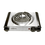 11-1/2''L 120V Portal Electric Single Burner Camper Camping Stove Cooker 120V 1000W Satin Finish