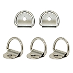 Marine Boat Stainless Steel D-Ring Pad Eye Ring Deck Folding Loop Eye Plate Hardware 1/8'' Pin Hole