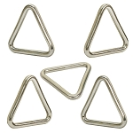 Set Of 5 Pc Marine 316 Stainless Steel 1/4'' x 2'' Triangle Ring Welded Boat ss316 WLL 300Lb Cap