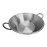 22'' x 7-1/2'' x 13'' Flat Surface Carnitas Cazo Pot Pan Outdoors Cooking Wok Stainless Steel