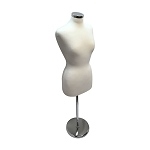 Cream Adjustable Female Mannequin Dress Form Neck Block Clothing Display