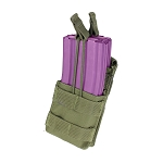 OD GREEN MOLLE PALS Modular Single Stack Bungee Open Top Magazine Mag Pouch