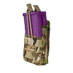 MULTICAM MOLLE PALS Modular Single Stack Bungee Open Top Magazine Mag Pouch
