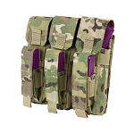 MULTICAM Triple MOLLE Tactical Military Holster Mag Pouch