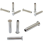 10 PC Stainless Steel Stemball Swage Hand-Crimp for WOOD POST 1/8