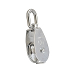 50mm Stainless Steel Single Sheave Swivel Eye Pulley Marine Rigging Hoist Lift 800 Lb Cap