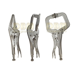 3 Pc welding Tool Set C Clamp Pliers Hand Vise Sheet Metal Curve Pliers Clamping