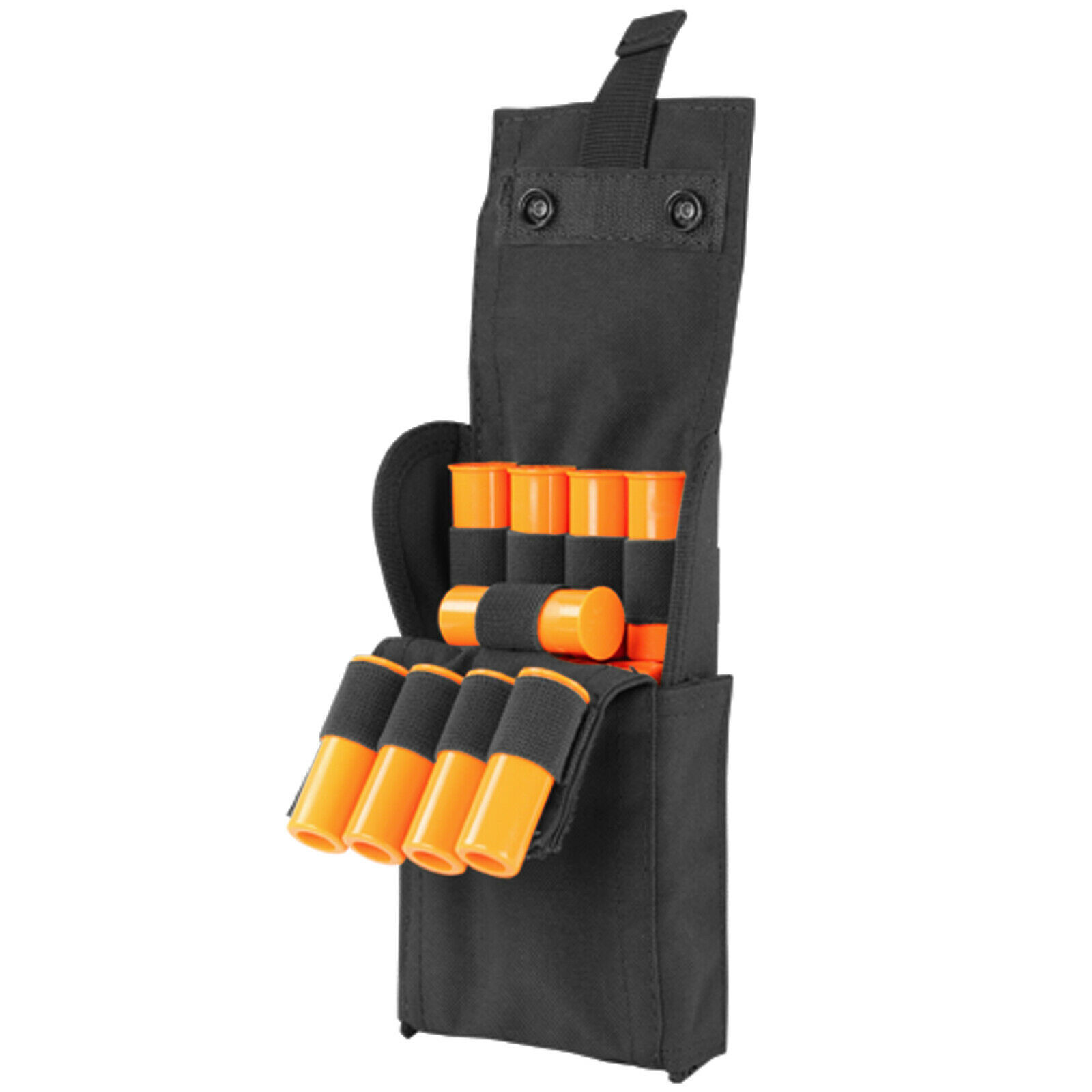 25 ROUNDS Shotgun Reload Pouch Ammo Carrier Molle Tactical Shell Case-BLACK
