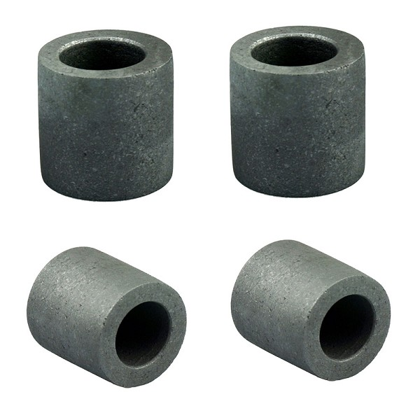 "4PC 1 1/2"" x 1 1/2"" Graphite Crucible 1KG Gold Melting Pot Cup Torch Casting Jewelers Molds"
