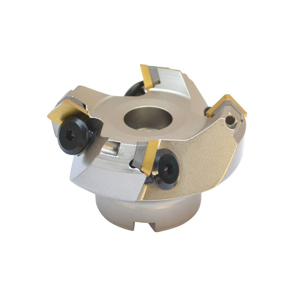 45 Degree Indexable Face Mill Cutter 2-1/2'' x 3/4'' 4 Flute SEKN Inserts  CNC machining Insert Carbide Shims Lathe Tool Bit