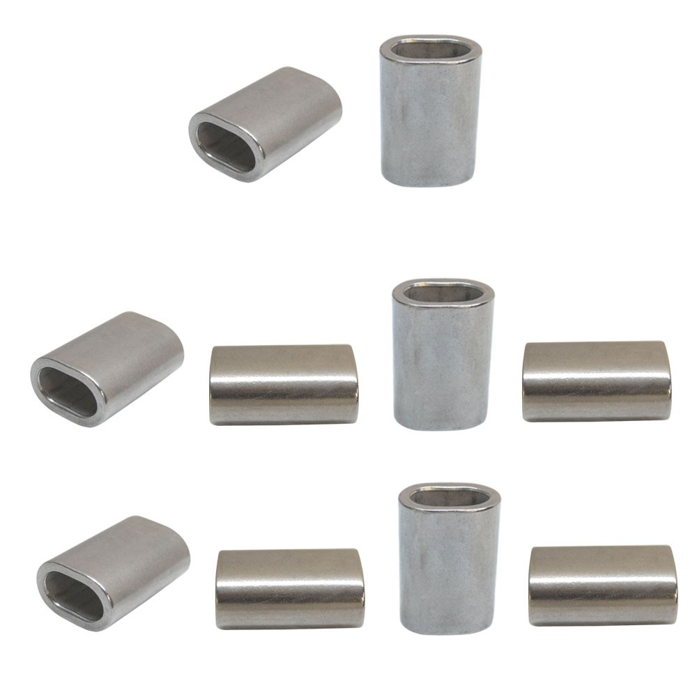10 Pc Marine Stainless Steel Wire Rope Cable Clip 3/32\