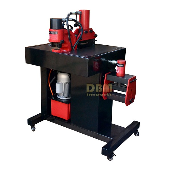 "3 In 1 Busbar Bender Cutter Puncher Max 5/16"" 8mm Thick Max 35 Ton with 4 Dies"