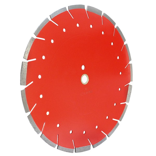 "18"" x140"" x 1"" Diamond Combo Saw Blade Cut Concrete Brick Stone WET DRY"