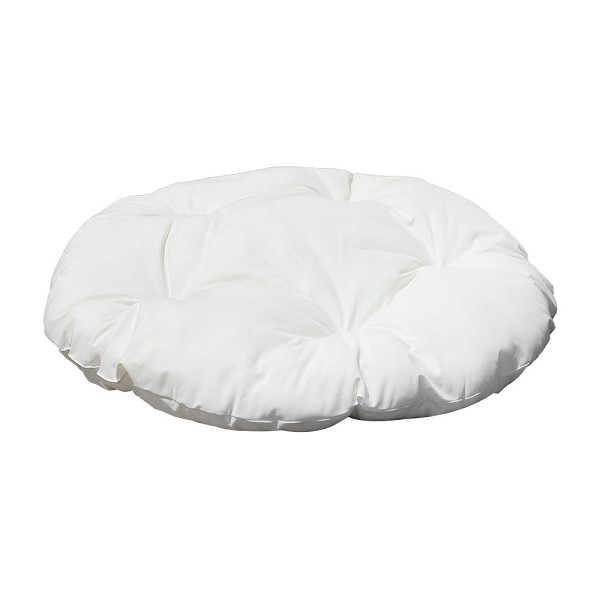 "44"" x 6"" Round Indoor/ Outdoor WHITE Polyester Replacement Cushion Pillow Sunbed Papasan Wicker Swing Chair"