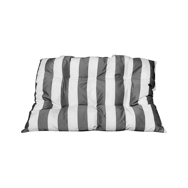 "40"" x 30"" x 6"" Rectangular In/Outdoor Silver/White Stripe Polyester Replacement Cushion Pillow Sunbed  Wicker Swing Chair"