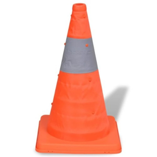 18' Pop-Up Car Traffic Warning Cones Orange Parking Safety Road Guard